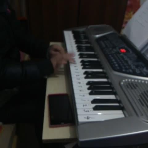我<B>什么</B>乐器都特别喜欢,可是就是不会,趁着妹妹学习,我也来玩玩,就只会两只<B>老虎</B>